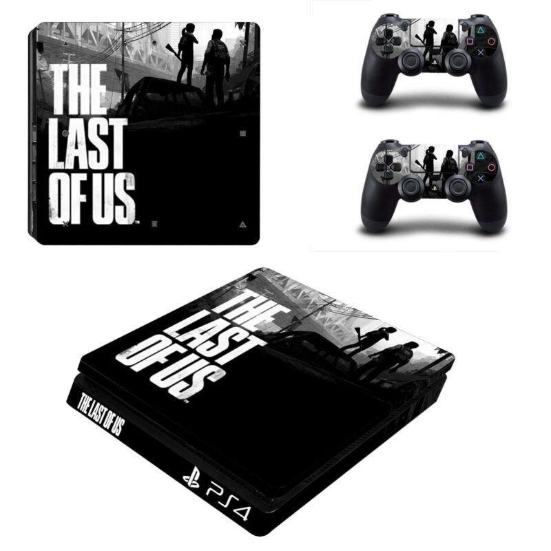The Last of Us Gaming Black Theme Dope PS4 Slim Skin