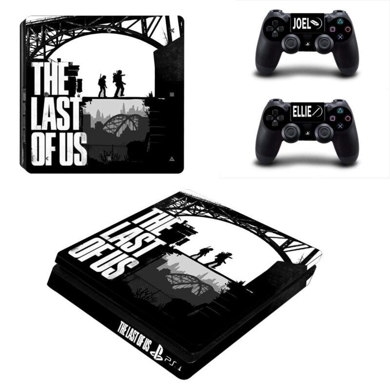 The Last of Us Main Characters Shadow Cool PS4 Slim Skin