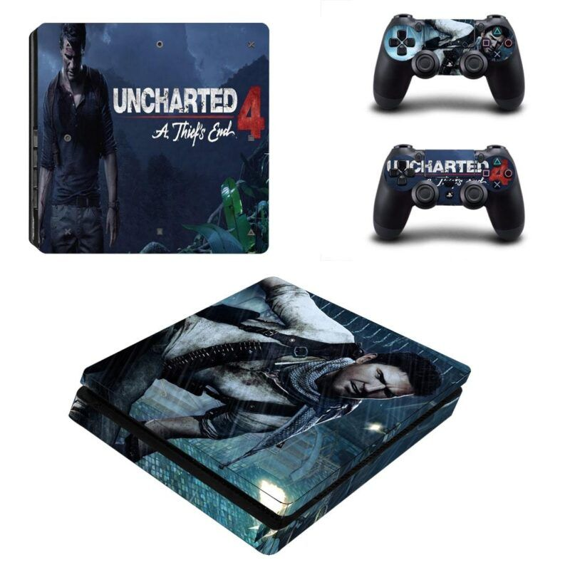Uncharted 4 A Thief's End Final Nathan Drake PS4 Slim Skin