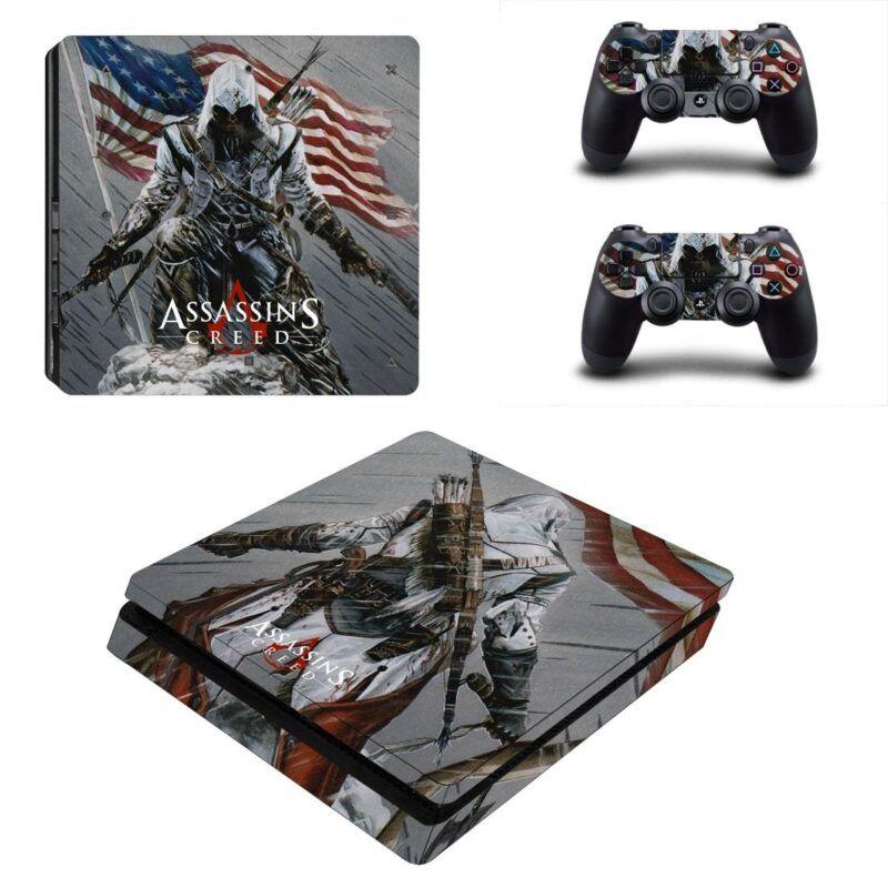 Assassin's Creed III American Revolution Gray PS4 Slim Skin