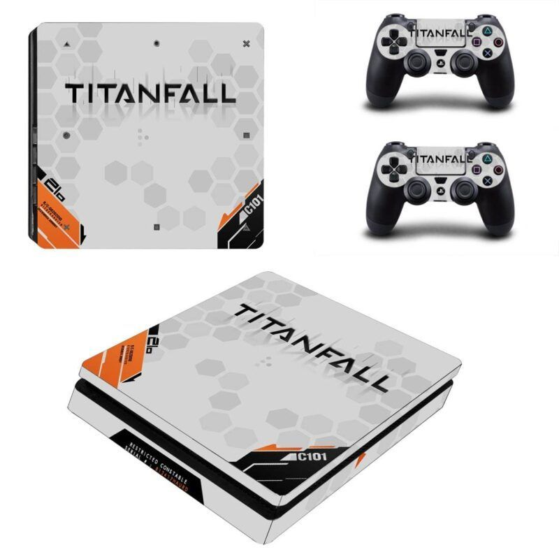Titanfall Simple Classy Mecha Tech Design White PS4 Slim Skin