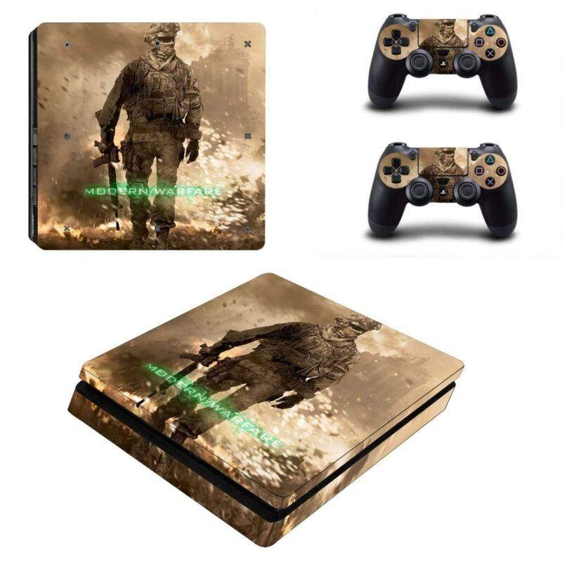 Call of Duty 4 Modern Warfare Army Explosion PS4 Slim Skin