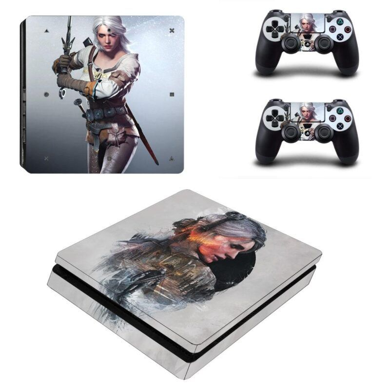 The Witcher 3 Ciri Princess of Cintra Cool Silver PS4 Slim Skin
