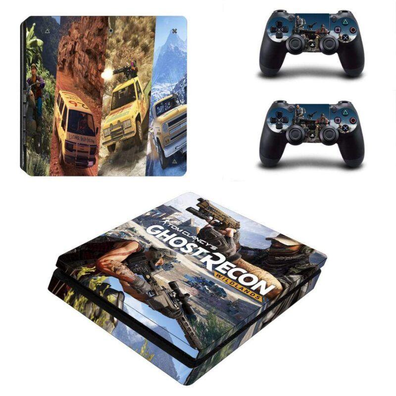 Tom Clancy Ghost Recon Wildlands Shooting Game PS4 Slim Skin