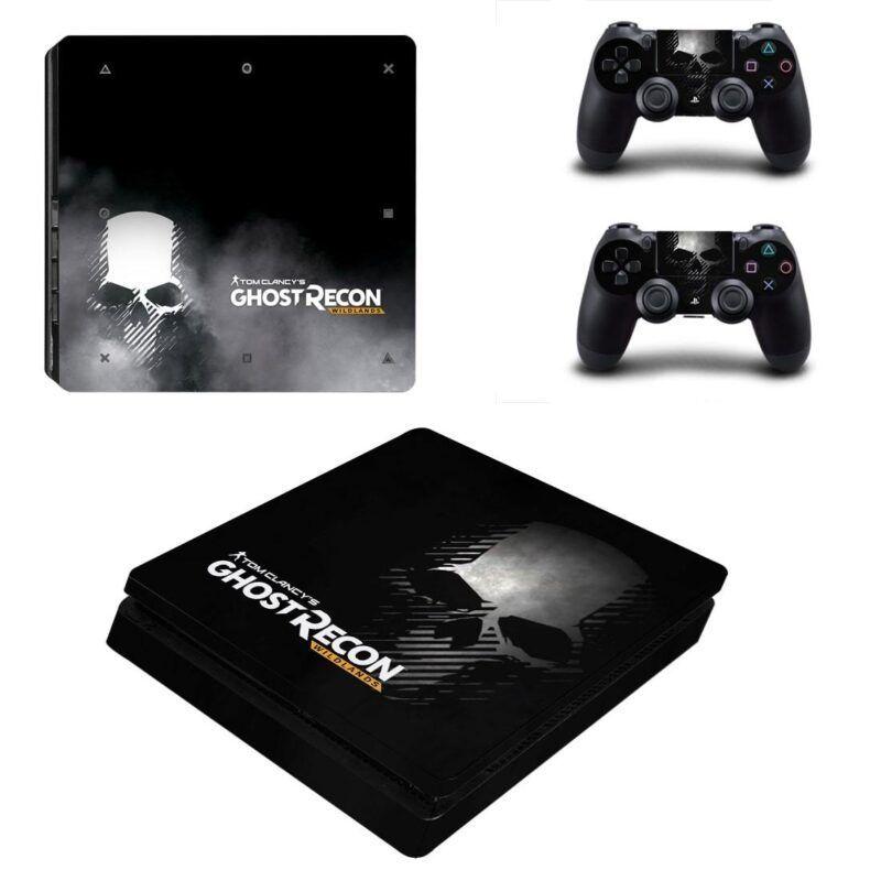 Tom Clancy Ghost Recon Wildlands Skull Black PS4 Slim Skin