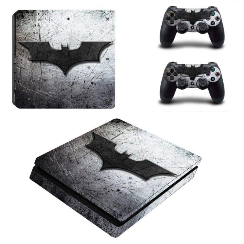 DC Comics Batman Black Bat Hero Symbol Gray PS4 Slim Skin