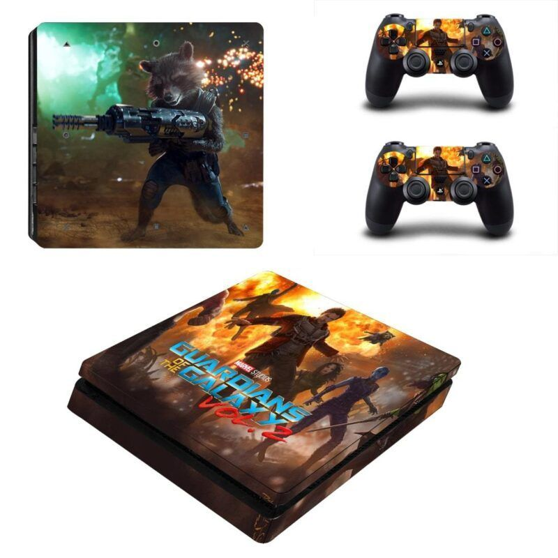 Guardian of the Galaxy Rocket Battle PS4 Slim Skin