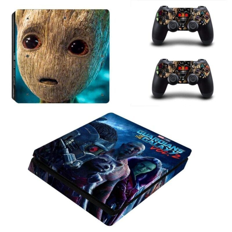 Guardian of the Galaxy Team Groot Face PS4 Slim Skin