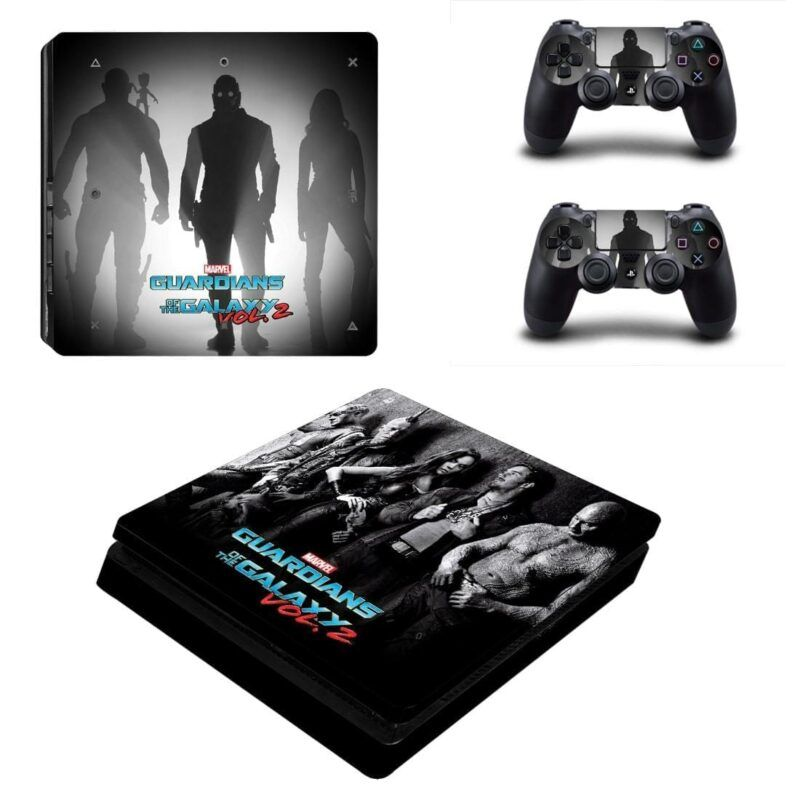 Guardian of the Galaxy Team Black Theme PS4 Slim Skin