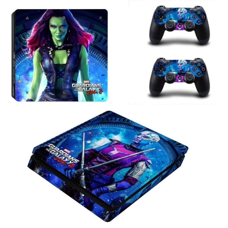 Guardian of the Galaxy Gamora Nebula Portrait PS4 Slim Skin