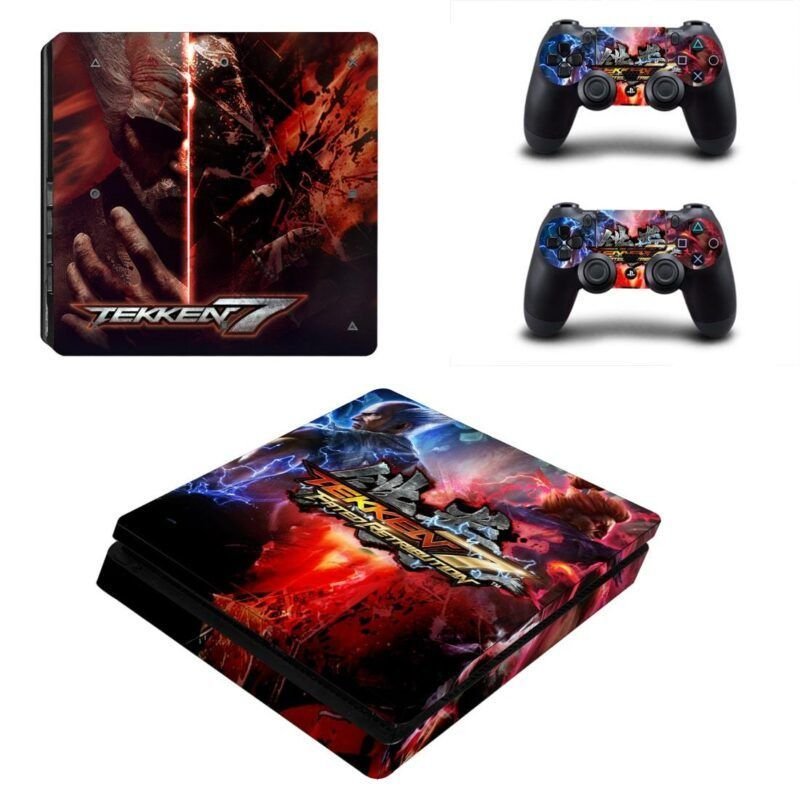 Tekken 7 Fated Retribution Heihachi Akuma Design PS4 Slim Skin