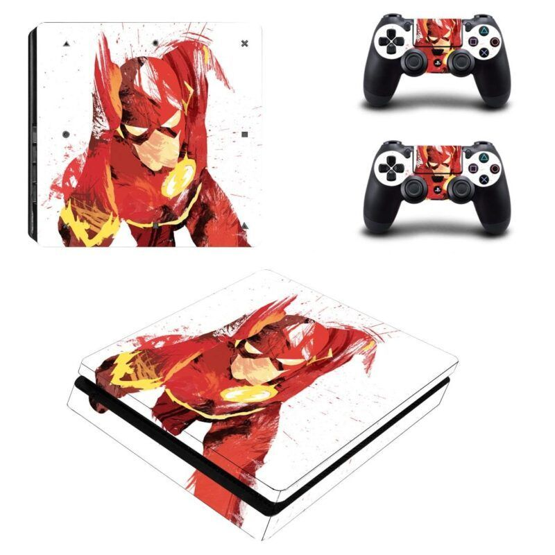 DC Flash Sketch Fan Art Cool Design PS4 Slim Skin