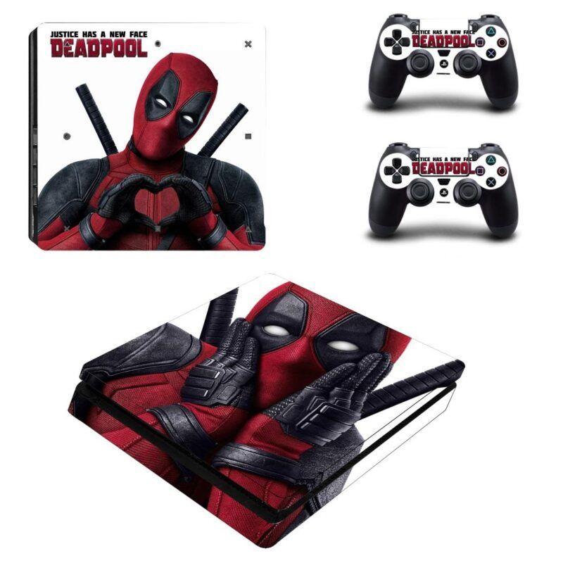 Deadpool Funny Anti Hero Love Iconic PS4 Slim Skin