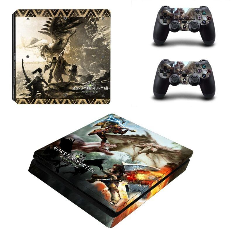 Monster Hunter World Powerful Charge Blade Axe PS4 Slim Skin
