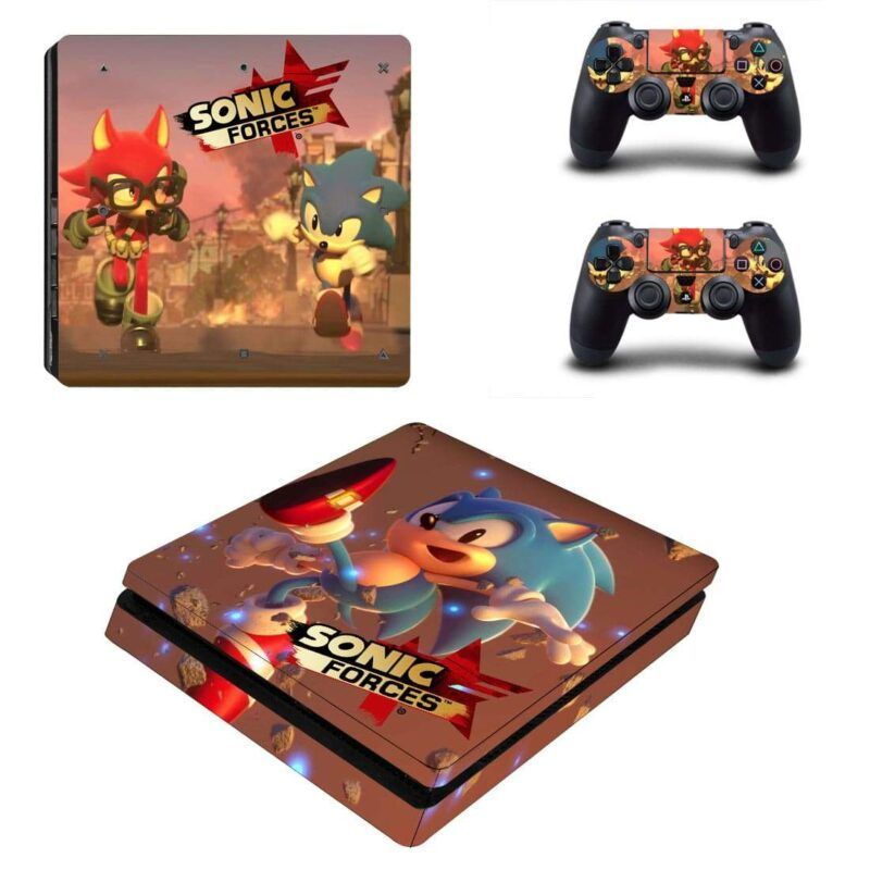 Sonic The Hedgehog Forces Running Sonic & Avatar PS4 Slim Skin