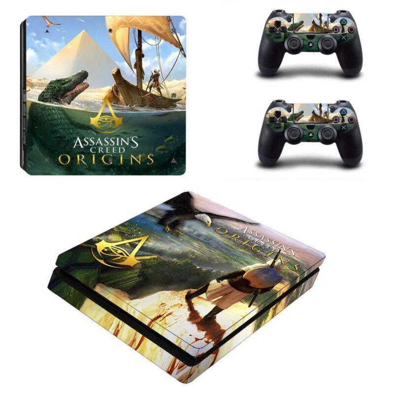 Assassin's Creed Origin Crocodile Uphill Scenery PS4 Slim Skin