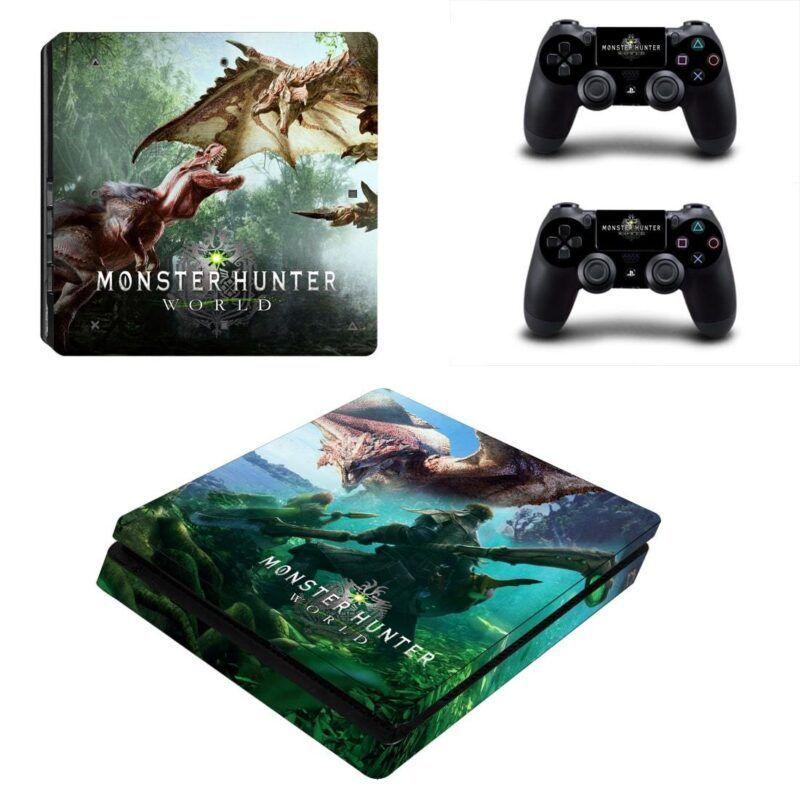 Monster Hunter World Monster Hunting PS4 Slim Console Skin