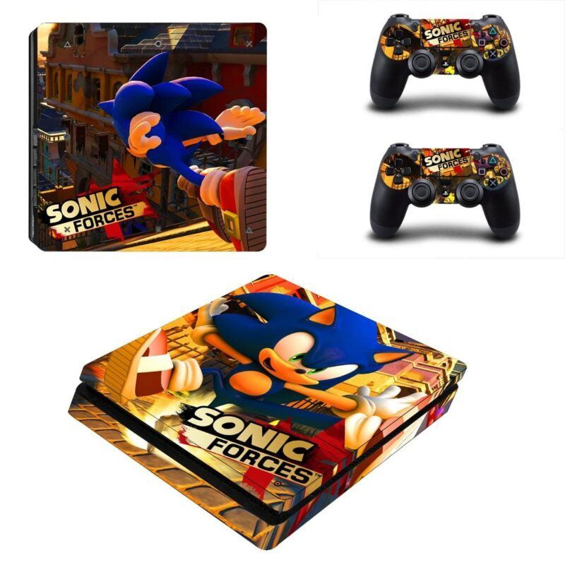 Sonic Forces Sonic the Hedgehog Running Downtown PS4 Slim Skin