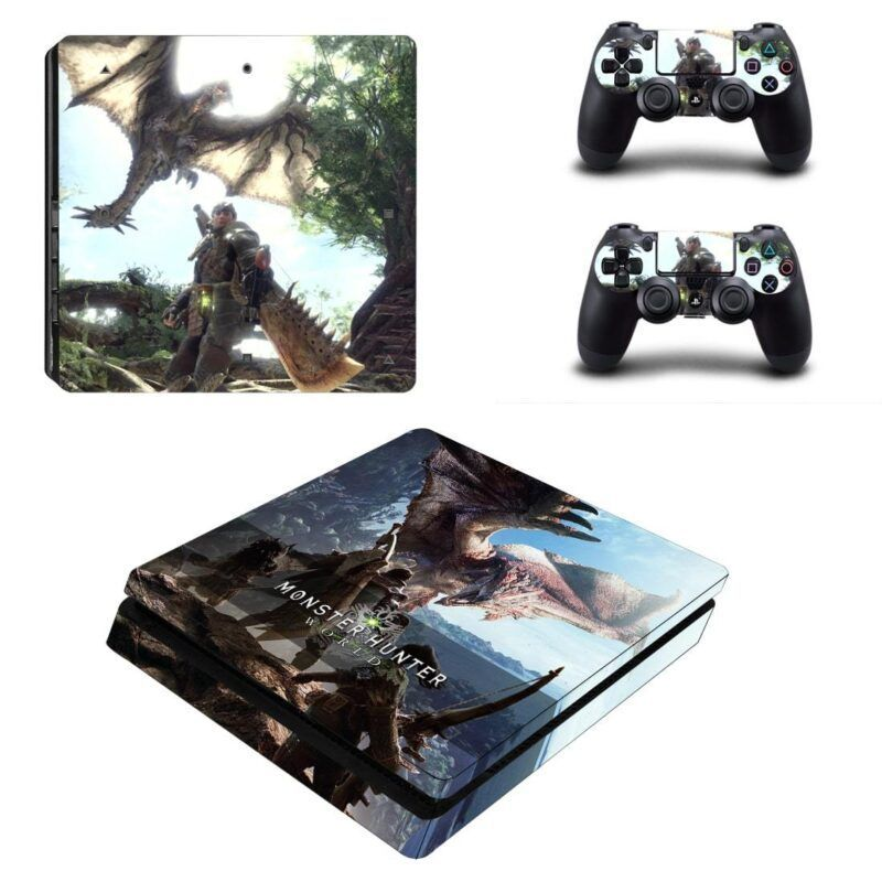 Monster Hunter World Ancient Forest PS4 Slim Decal Skin