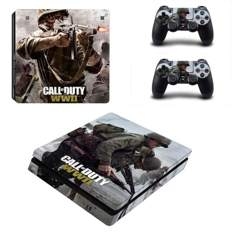 Call Of Duty WWII Soldier Helping A Comrade PS4 Slim Skin