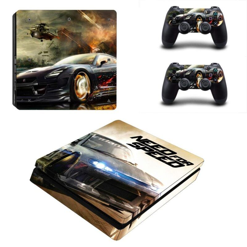 Need For Speed Helicopter High-Speed Race Cars PS4 Slim Skin
