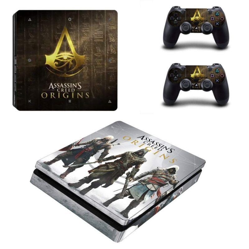Assassin's Creed Origins Main Characters PS4 Slim Skin