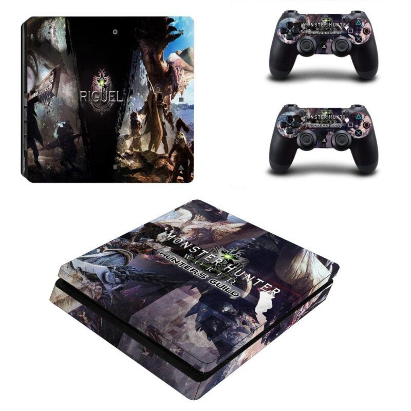 Monster Hunter World Hunter's Guild Riguel PS4 Slim Skin