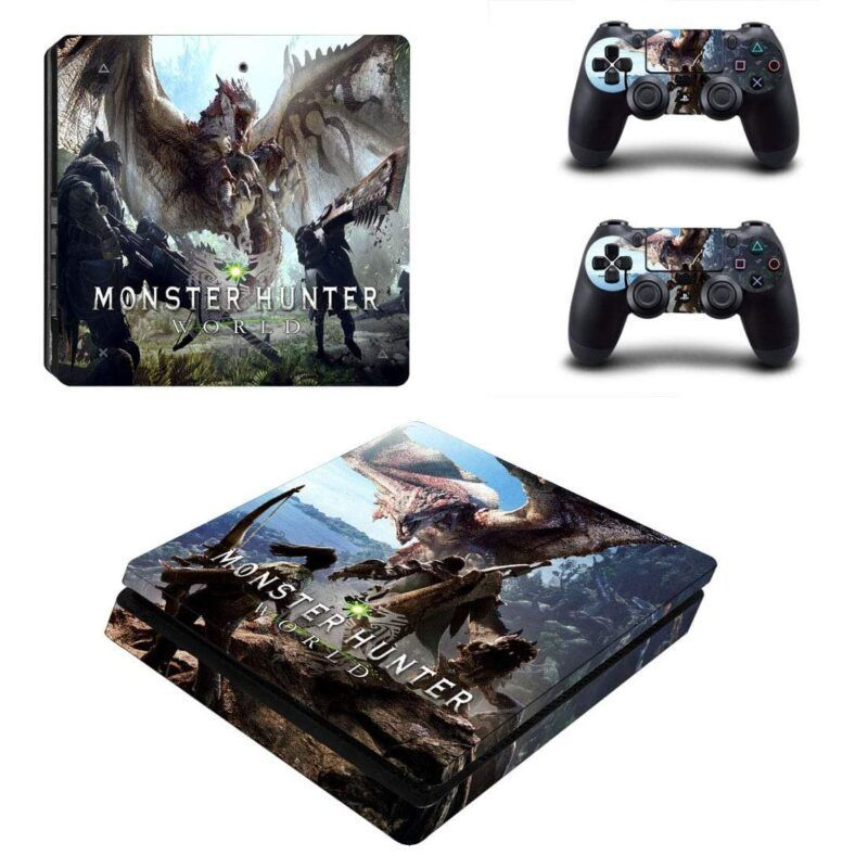 Monster Hunter World Deadly Rage Rathalos Dragon PS4 Slim Skin