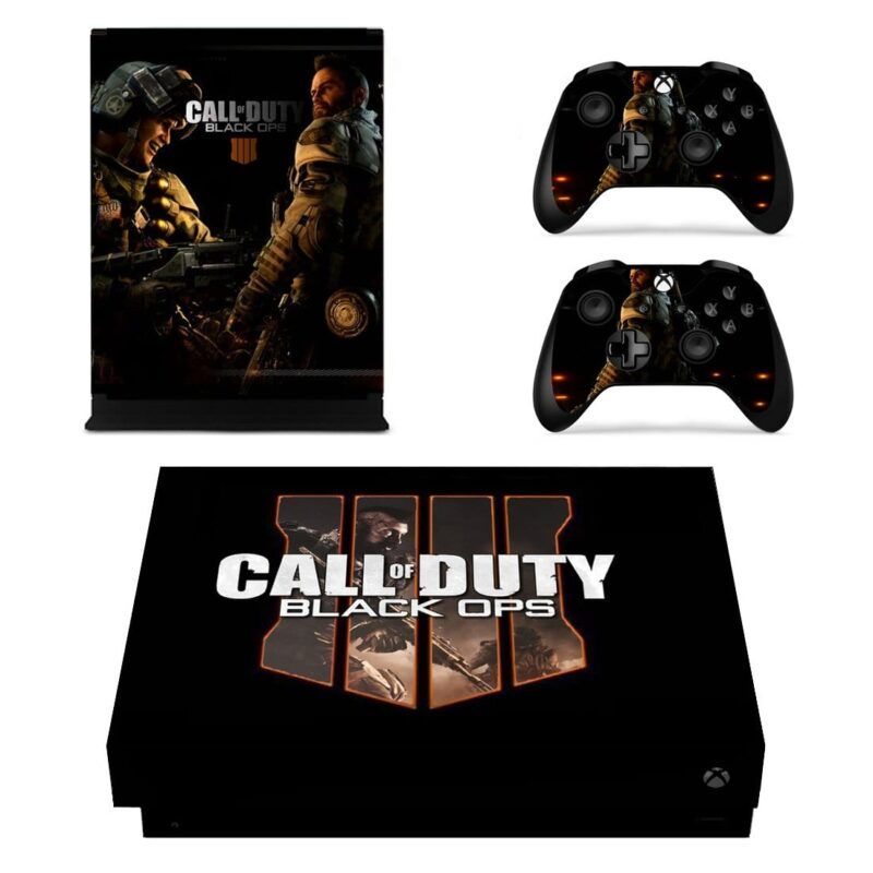 Call Of Duty Black Ops Battery & Ruin Black Xbox One X Skin