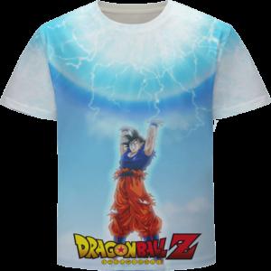 Dragon Ball Z Cool Goku Spirit Bomb Energy Art T-Shirt