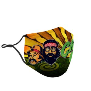 Adventures Of Cheech And Chong Marijuana Themed Face Mask