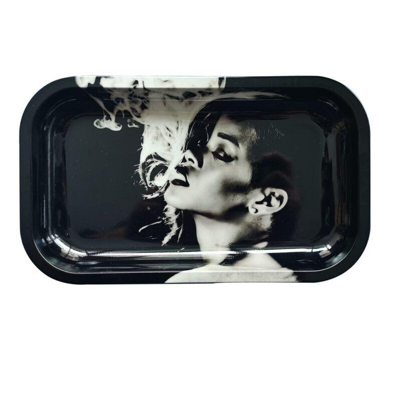 Bad Gal Rihanna Smoking Cannabis Blunt Rolling Tray