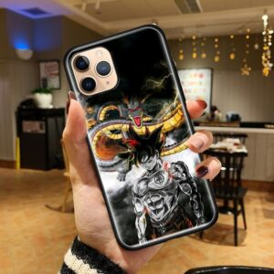 DBZ Fierce Goku and Shenron iPhone 12 (Mini, Pro & Pro Max) Cover