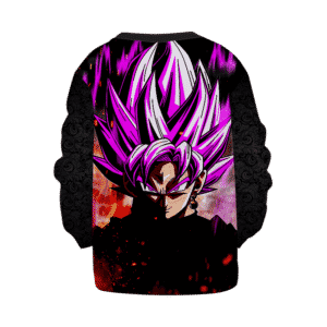 DBZ Goku Black Super Saiyan Rose Dark Cool Pattern Kids Sweatshirt