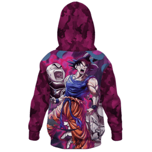 DBZ Goku Krillin Versus Frieza Kids Awesome Hoodies Back