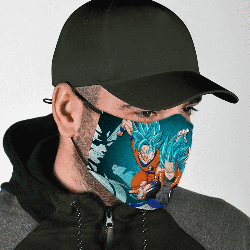 DBZ Goku Vegeta Gogito Super Saiyan Blue God Awesome Face Mask