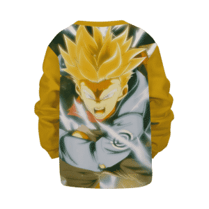 DBZ Super Saiyan Future Trunks Angry Yellow Kids Sweatshirt