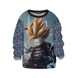 DBZ Trunks Samurai Fan Art Japanese Pattern Kids Sweatshirt