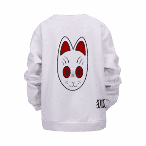 Dragon Ball Grandpa Gohan Kitsune Mask White Kids Sweater