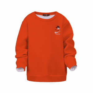 Dragon Ball Kid Goku Nike Orange Kids Pullover Sweatshirt