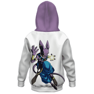 Dragon Ball Powerful God of Destruction Beerus Kids Hoodie Back