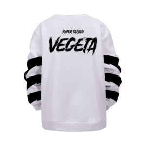 Dragon Ball Super Saiyan Mad Vegeta White Kids Pullover Sweater