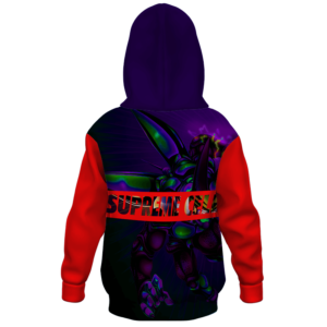 Dragon Ball Supreme Cell Charge Attack Kids Pullover Hoodie Back
