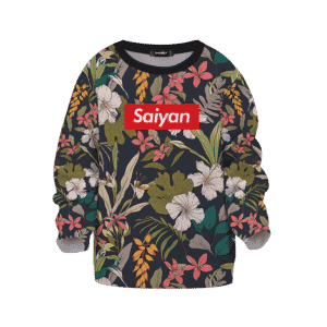 Dragon Ball Supreme Saiyan Breezy Floral Kids Sweatshirt