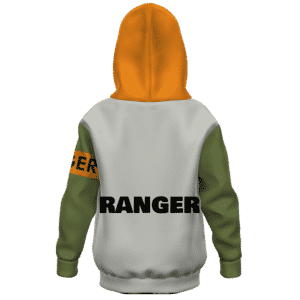 Dragon Ball Z Android 17 MIR Ranger Kids Fashionable Hoodie Back