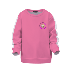 Dragon Ball Z Android 18 Cute Face Pink Children's Sweater