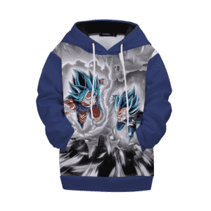 Dragon Ball Z Angry Goku Vegetta Blue Kids Hoodie