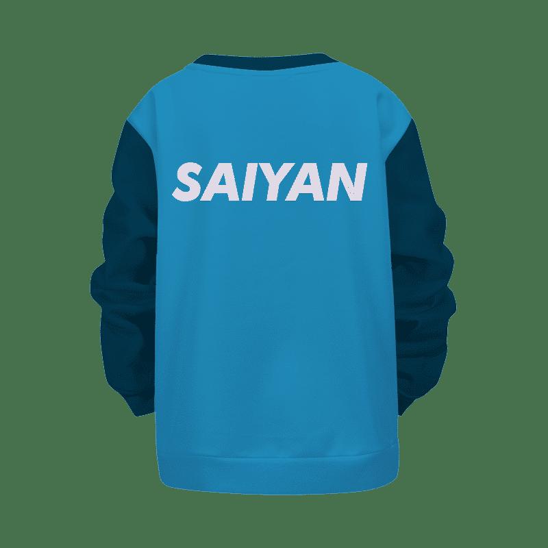 Dragon Ball Z Blue Vegeta Angry Cool Kids Sweatshirt