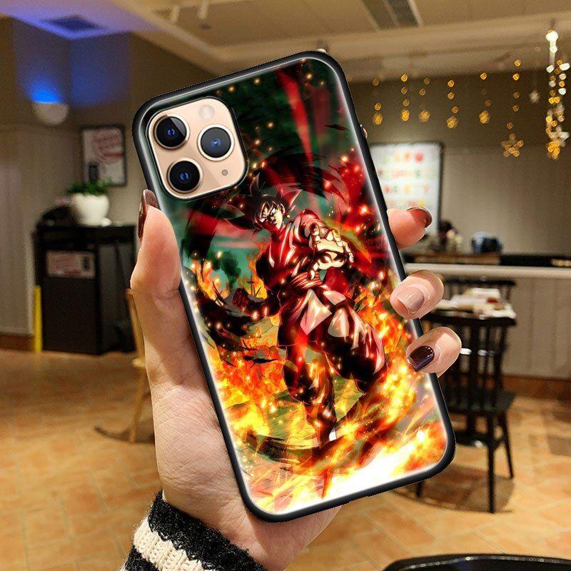 Dragon Ball Z Fierce Scary Goku God iPhone 12 (Mini, Pro & Pro Max) Cover