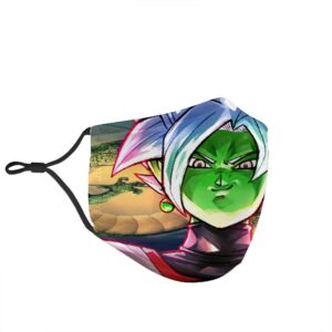 Dragon Ball Z Fusion Shenron Smirking Zamasu Face Mask